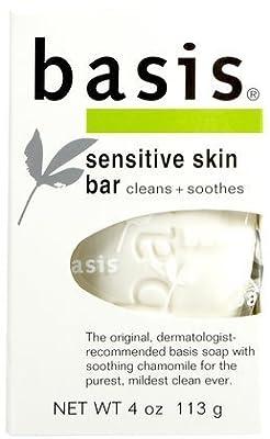 Basis Sensitive Skin Cleansing Bar-4 oz (Pack of 9)