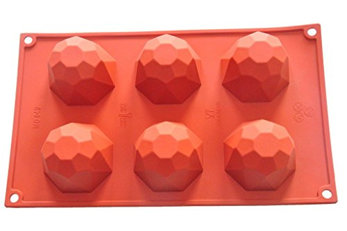 FOUR-C Cupcake Tools Cake Bakeware Diamond Silicone Molds Color Purplish Red (Diamond Cake Pan compare prices)