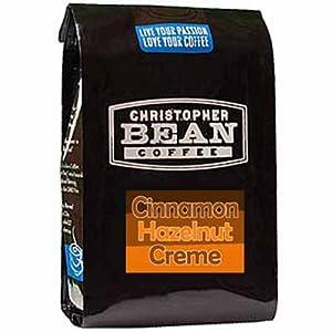 Christopher Bean Coffee Flavored Ground Coffee, Cinnamon Hazelnut, 12 Ounce
