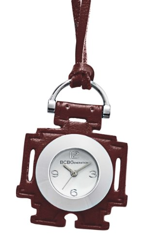 Bcbgeneration Women'S Gl4166 Fashion Robot Pedant Analog Red Leather Watch