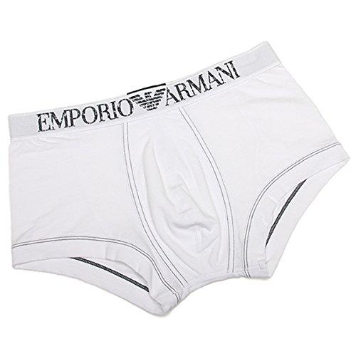 (エンポリオアルマーニ) EMPORIO ARMANI エンポリオアルマーニ ボクサーパンツ メンズ EMPORIO ARMANI 111866 4P540 00010 ストレッチ アンダーウェア WHITE[並行輸入品]