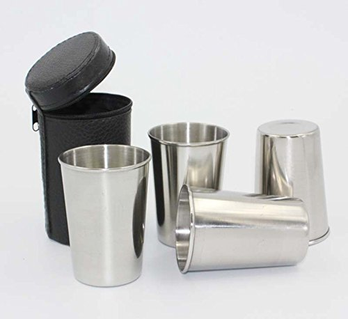LingStar 4pcs Stainless Steel Beer Pint Cup Set Camping Cup for Outdoor and Everyday Use Tumbler Mug 70ml (French Press Heated compare prices)