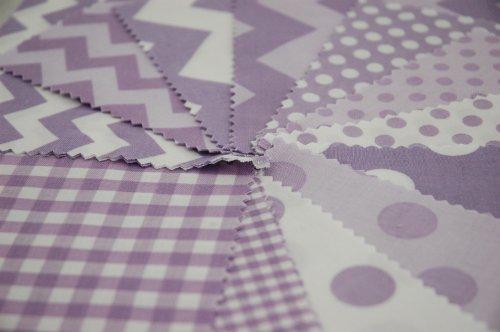 Riley Blake 24 piezas Diseño de líneas en zigzag morado lavanda BASIC Gingham tela de lunares de pincel doble tela para pulsera de cuadrados de estilo moderno para coser juego de - morado - 12,5 x 12,5 cm unidades acolchado unidades (12,7 cm x 12,7 cm)