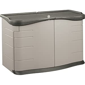 Click to buy Rubbermaid Split-Lid Deck Storage Shed 18-Cubic Feet from Amazon!