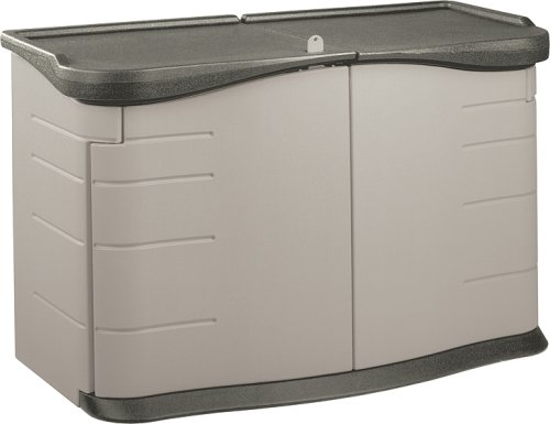 Rubbermaid 3753 Split-Lid Deck Storage Shed 18-Cubic Feet