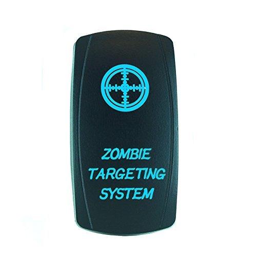 Laser Backlit Blue Rocker Switch ZOMBIE TARGETING SYSTEM 20A 12V On/off LED Light (Targeting Laser compare prices)