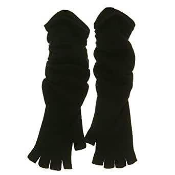 Fingerless Long Glove - Black W20S44E - clover