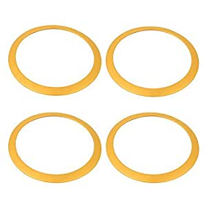 4 Pcs Gold Tone Audio Decor Ring Circle 115mm Dia