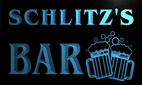 w049043-b SCHLITZ`S Name Home Bar Pub Beer Mugs Cheers Neon Light Sign