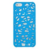 Rubberized Hard Case for Apple iPhone 5 - Bird Nest (Sky Blue)