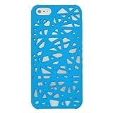 Rubberized Hard Case for Apple iPhone 5 - Bird Nest (Sky Blue)