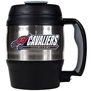 NBA Cleveland Cavaliers 52-Ounce Stainless Steel Macho Travel Mug with Bottle Opener by Great American Products