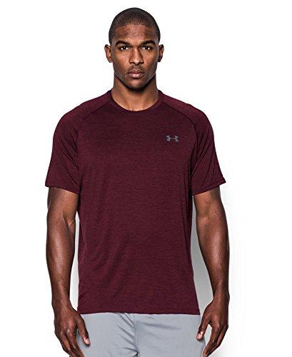 under-armour-mens-tech-short-sleeve-t-shirt-dark-maroon-611-xx-large