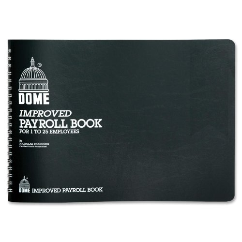"Dome Publishing Payroll Book - Wire Bound - 10"" x 6.5"" Sheet Size - Green - 1Each"