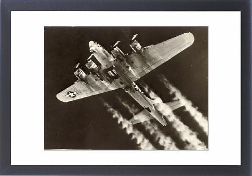 Framed Artwork of A Boeing B-17G Flying Fortress prepares to drop its bombload