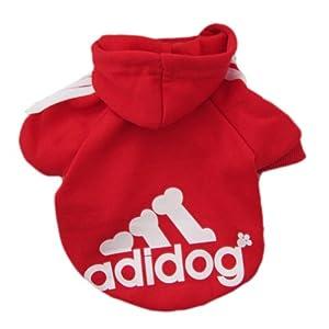 Zehui Pet Dog Cat Sweater Puppy T Shirt Warm Hoodies Coat Clothes Apparel Red M