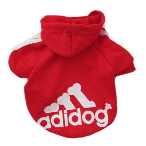 Zehui Pet Dog Cat Sweater Puppy T Shirt Warm Hoodies Coat Clothes Apparel Red L