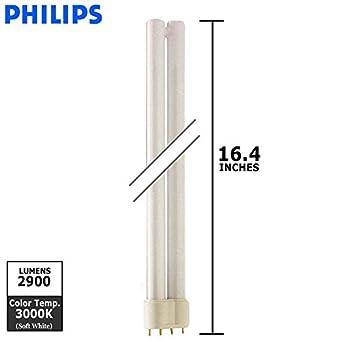 Philips Lighting 34511-6 - PL-L 36W/830/4P - 36 Watt CFL Light Bulb - Compact Fluorescent - 4 Pin 2G11 Base - 3000K -