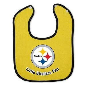 Pittsburgh Steelers Two-Toned Snap Baby Bib