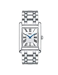 ESQ by Movado Men's 07301363 Filmore Stainless-Steel Silver Roman Rectangle Dial Watch