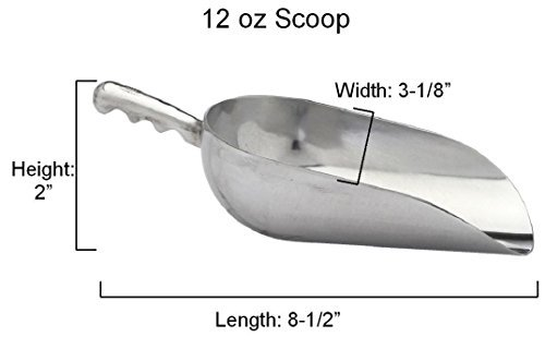 12oz Aluminum Metal Scoops Ice (Serrated Ice Cream Scoop compare prices)