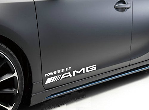 2Pcs Powered By Amg Window Vinyl Decal Sticker