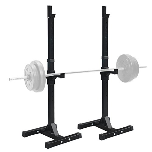 F2C Pair of Adjustable Rack Sturdy Steel Squat Barbell Free Bench Press Stands GYM/Home Gym Portable Dumbbell Racks Stand (one pair/two pcs) (Bench Press Safety Rack compare prices)