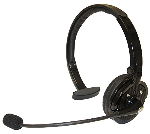 Beyondtek® Over The Head Bluetooth Wireless Headset For Cellphones 21 Hour Talk Time & 4X Noise Cancelling 1 Year Warranty- Carrier Packaging - Black