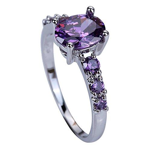 YAZILIND Wedding Bridal Purple Rhinestone Engagement Band Ring For Women Size11 - YAZILIND JEWELRY LTD
