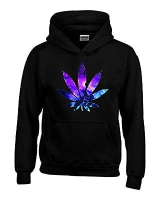 Shop4Ever® Marijuana Leaf GALAXY Hoodies Weed Smokers Hoodies