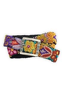 Tey-Art Floral Diamond Embroidered Wool Fair Trade Belt