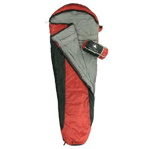 10T Outdoor Equipment 764757 - Sacco a pelo Yukon 125, 230 x 85 x 55 cm, colore: Rosso