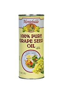 Montebaldo Grapeseed Oil, 33.75-Ounce Cans (Pack of 2)