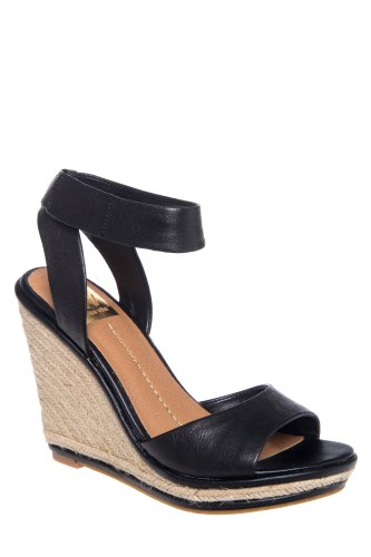 DV by Dolce Vita Tonya High Heel Jute Wedge Ankle Strap Sandal
