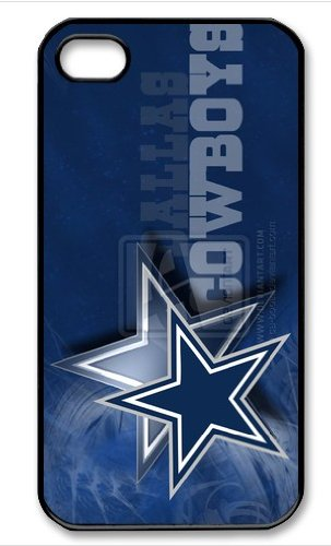 Dallas Cowboys Logo NFL HD image case cover for iphone 4/4S black A Nice Present at Amazon.com