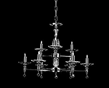 Starlite 12 Light Nickel Chandelier STH03061/8+4/N