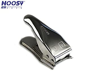 Dritte Generation Noosy Nano Sim Karten & Micro Sim Karten Cutter/Schneider in Silber, für iPhone 5, iPhone 4 und iPad all in one cutter Neues Modell