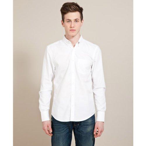 White Label Oxford Shirt - White - Mens
