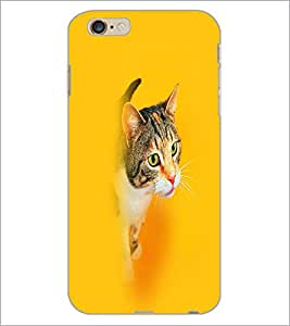 PrintDhaba Cat D-2662 Back Case Cover for APPLE IPHONE 6S (Multi-Coloured)