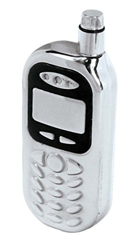SE HQF101MP Stainless Steel Cellphone Hip Flask, 4 Ounces