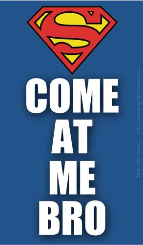 Licenses Products DC Comics Superman Come At Me Bro Logo Large Sticker - 1