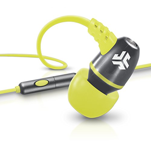 Jlab Jbuds Neon Metal In-Ear Earbuds With Universal Mic For Iphone & Android (Gray/Yellow)