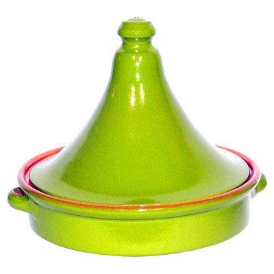 Amazing Cookware Plat à tajine en terre cuite  20cm - 'vert nacré'