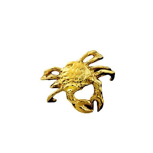 Gold Vermeil Pierceless Right Only Ocean Crab Ear Cuff