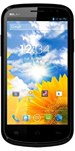 BLU Dash 4.5 Unlocked Dual Sim Phone with Quad-Core 1.2GHz Processor, Android 4.2 JB, 4.5-inch Display, 4G HSPA+ up to 21Mbps and 5MP Camera (Black)