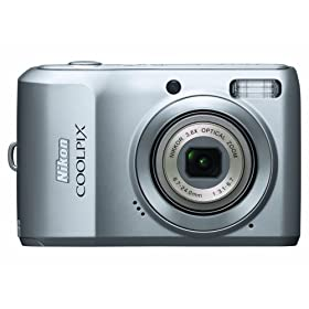 Nikon Coolpix L19 8MP Digital Camera with 3.6 Optical Zoom and 2.7 inch LCD (Silver)