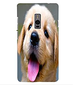 ColourCraft Cute Pup Design Back Case Cover for OnePlus Two