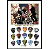 Printed Picks Company Iron Maiden New Gold Edition Guitar Pick Display with 15 Guitar Picks