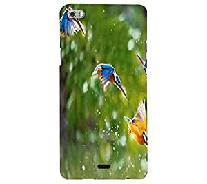 Perfect print back cover for Micromax Canvas silver 5 Q450