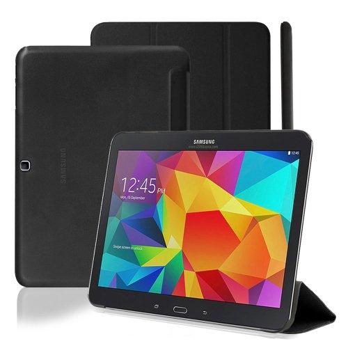 """KHOMO® Smart Cover Dual Case Nera Custodia Ultra Sottile e Leggera con Supporto per Samsung Galaxy Tab 4 - 10.1"""""""